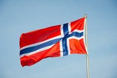 Bandierina della Norvegia Fotografie Stock Libere da Diritti