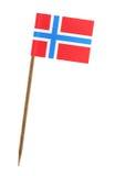 Bandierina della Norvegia immagini stock