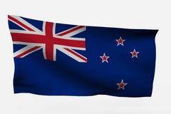 Bandierina della Nuova Zelanda 3d Immagine Stock Libera da Diritti