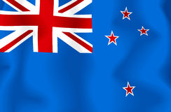 Bandierina della Nuova Zelanda Fotografia Stock
