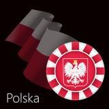 Bandierina della Polonia Fotografia Stock