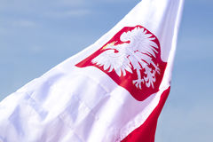 Bandierina della Polonia Fotografie Stock