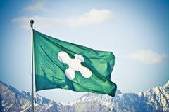 Bandierina della regione della Lombardia in Italia Immagini Stock Libere da Diritti