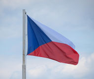 Bandierina della Repubblica ceca Fotografia Stock