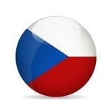 Bandierina della Repubblica ceca Illustrazione di vettore Fotografia Stock Libera da Diritti