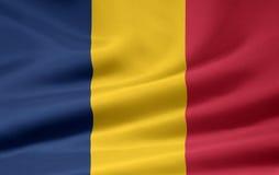 Bandierina della Repubblica del Chad Immagini Stock