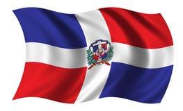 Bandierina della Repubblica dominicana Immagini Stock