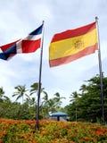 Bandierina della Repubblica dominicana Fotografia Stock Libera da Diritti