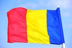 BANDIERINA DELLA ROMANIA Immagine Stock