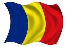 Bandierina della Romania di Immagini Stock Libere da Diritti