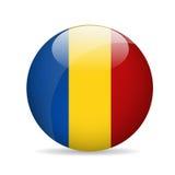 Bandierina della Romania Illustrazione di vettore Fotografia Stock
