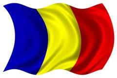 Bandierina della Romania isolata Immagini Stock Libere da Diritti