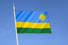 Bandierina della Ruanda Fotografia Stock Libera da Diritti