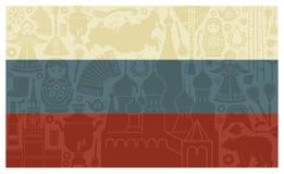 Bandierina della Russia royalty illustrazione gratis