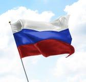 Bandierina della Russia Fotografie Stock Libere da Diritti