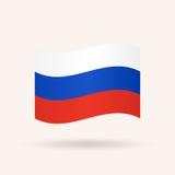 Bandierina della Russia Immagini Stock