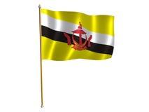 Bandierina della seta del Brunei Immagini Stock Libere da Diritti