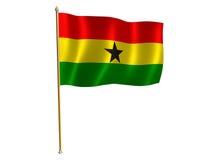 Bandierina della seta del Ghana Fotografia Stock Libera da Diritti