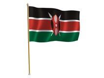Bandierina della seta del Kenia Fotografie Stock Libere da Diritti