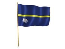 Bandierina della seta del Nauru Fotografia Stock Libera da Diritti