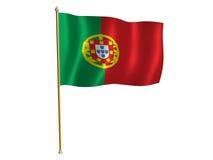 Bandierina della seta del Portogallo Fotografia Stock Libera da Diritti