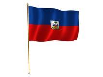 Bandierina della seta dell'Haiti Immagini Stock