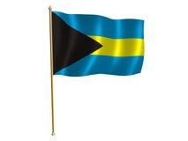 Bandierina della seta delle Bahamas Immagine Stock Libera da Diritti