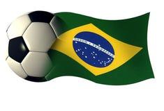 Bandierina della sfera del Brasile Immagini Stock