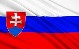Bandierina della Slovacchia immagine stock libera da diritti