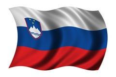 Bandierina della Slovenia Fotografia Stock