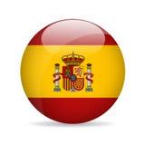 Bandierina della Spagna Illustrazione di vettore Fotografia Stock