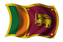 Bandierina della Sri Lanka illustrazione vettoriale