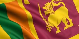 Bandierina della Sri Lanka Fotografia Stock Libera da Diritti