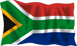 Bandierina della Sudafrica Fotografie Stock