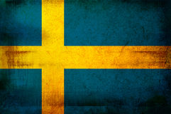 Bandierina della Svezia Immagine Stock Libera da Diritti
