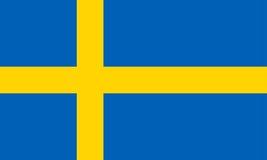 Bandierina della Svezia Immagini Stock Libere da Diritti