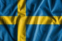 Bandierina della Svezia Fotografia Stock