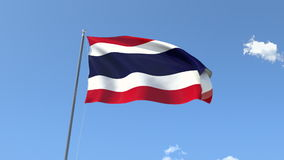 Bandierina della Tailandia illustrazione vettoriale