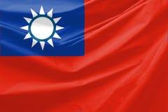 Bandierina della Taiwan Immagini Stock