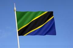Bandierina della Tanzania Fotografia Stock
