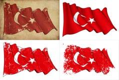 Bandierina della Turchia Fotografie Stock