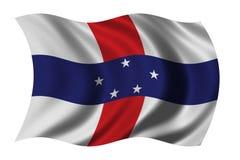 Bandierina delle Antille olandesi Fotografia Stock