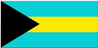 Bandierina delle Bahamas Fotografia Stock