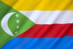 Bandierina delle Comore Fotografia Stock