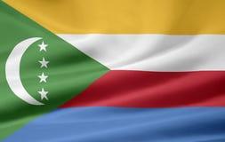 Bandierina delle Comore Immagini Stock Libere da Diritti