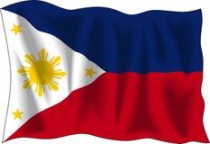 Bandierina delle Filippine Immagini Stock Libere da Diritti