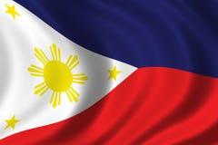 Bandierina delle Filippine Fotografie Stock