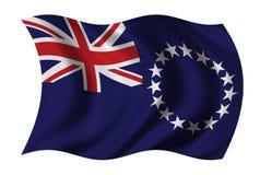 Bandierina delle Isole Cook Fotografia Stock