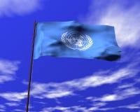 Bandierina delle Nazioni Unite illustrazione di stock