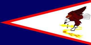 Bandierina delle samoa americane Fotografie Stock Libere da Diritti